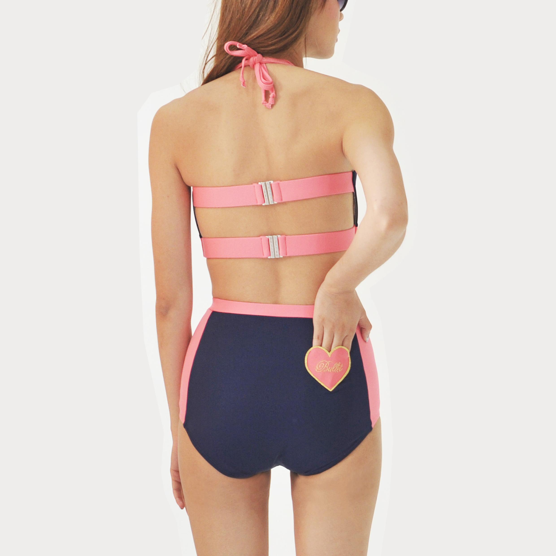 ผู้หญิง,Women,ชุดว่ายน้ำ,ชุดว่ายน้ำผู้หญิง,บิกินี่,swimsuit,swimwear,bikini,ชุดว่ายน้ำทูพีช,ชุดว่ายน้ำทูพีชกางเกงขาสั้น,สีพื้น,สีกรม,สีชมพู