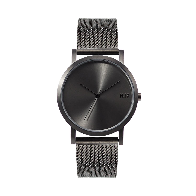 ฟรีจัดส่ง,NIXwatch,NIXstudio,MetalProject,Minimalwatches,stainless,mesh,Unisex,gift,Metallic,present,black,gray