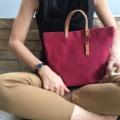 กระเป๋าผ้าแคนวาส 22 oz.สายหนังฟอกฝาด #bag #canvas #canvasbag #lapindesigns #กระเป๋า #minimal #madetoorder #แคนวาส #กระเป๋าถือ  #LapinDesigns