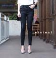 """สิ้นสุดการรอคอย รอบ 2 มาแล้วค่า น้ำตาจะไหล hot มากกก 🔥🔥IN STOCK!!! High-waist jeans in black กางเกงยีนส์สีดำ แต่งขาดนิดๆ ปลายขาปล่อยรุ่ย แต่งจีบขั้นๆช่วงปลายขา สไตล์ zara รุ่นนี้เป็นทรงเอวสูงนะคะ เก็บสัดส่วนดูมีเชฟ แพทเทิร์นเป๊ะมาก ใส่สวยสุดๆ ผ้ายีนส์เนื้อดี ยืดหยุ่นกระชับ ใส่สบาย เรียบๆแต่ดูมีสไตล์ เหมาะสำหรับสาวๆที่ไม่ชอบอะไรเยอะๆ ใส่เที่ยวใส่ทำงานได้หมด บอกเลยว่ารุ่นนี้ห้ามพลาด จองด่วนค่ะ ** premium quality รุ่นนี้เก็บสัดส่วนได้ดีมาก เป๊ะสุดๆ เรียบๆใส่ได้บ่อย เลิฟเลยค่ะ💜❤️** S เอว 24-26"""" สะโพก 29-35"""" M เอว 26-28"""" สะโพก 31-37"""" L เอว 28-30"""" สะโพก 33-39"""" ยาว 34""""  #chickkstyle"""
