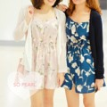 "Floral Dress 🌸 ♡ Price : 390 บาท ♡ White / Pink / Blue / Navy ♡ Size : อก 34"" เอว/สะโพกฟรีไซส์ 💬Line : @sopearl_closet (มีแอดด้านหน้านะคะ) #SoPearlCloset"