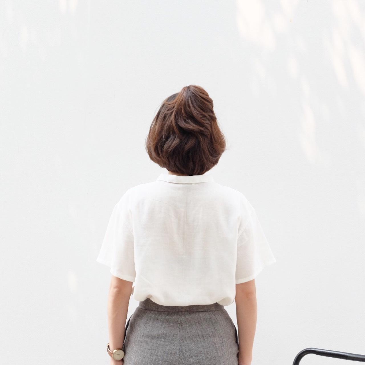 katji,เสื้อเชิ้ต,เสื้อเชิ้ตแขนสั้น,เสื้อเชิ้ตสีขาว,เสื้อสีขาว,เสื้อเชิ้ตผู้หญิง,เสื้อผู้หญิง,ผู้หญิง