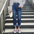 """❁ Luna Jeans กางเกงยีนส์สีเข้ม ช่วงปลายขาเย็บทบพับขาเก๋ๆ ผ้าดีอยู่ทรงสวย มีกระเป๋าหน้าและหลัง ใส่กับเสื้อเชิ้ตหรือเสื้อยืดดูดีมาก - - - - - - - - - - - - •• Size S : ยาว 34"""" เอว 25"""" สะโพก 34"""" •• Size M : ยาว 34.5"""" เอว 26"""" สะโพก 36"""" •• Size L : ยาว 37"""" เอว 30"""" สะโพก 39"""" •• ราคา 850 บาท"""