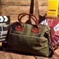 """CHIRON"" Vintage Canvas Messenger Bag/Brieftcase --------------------------------------- กระเป๋าเอกสาร / โน้ตบุค Size L สะพายข้าง ดีไซน์คลาสสิคผสมผสานหนังแท้ กระเป๋า3ช่อง ด้านข้างกระเป๋ามีสายและแผ่นหนังใช้สำหรับปรับระดับช่วงกระเป๋าให้กระชับทรงขึ้น ดูเท่ห์ไปอีกแบบ ช่องในไม่มีพาร์ทสำหรับบ็อคช่อง รองรับโน้ตบุคใบใหญ่ได้สบาย  Marerial ::  Leather / Heavy Canvas Size กว้าง(W)50xสูง(H)33xลึก(D)12.5CM. Price 1,300-THB ค่าส่งลงทะเบียน 50฿ สนใจรายละเอียดเพิ่มเติมได้ครับ 24Hr. Line  nudtys Page https://m.facebook.com/A1920BagsVintage Phone Num. 0932426519 ------------------------------------------ #used #vintagestyle #vintageshop #vintagebag #leatherbag #bags #bagshop #วินเทจ #กระเป๋าเดินทาง #มือสอง #pattaya #กระเป๋าหนัง #กระเป๋าเป้ #กระเป๋าเป้สะพายหลัง #กระเป๋าเดินทาง #backpack #backpacking #backpacker  #กระเป๋าเท่ห์ #กระเป๋าเท่ห์ๆแบบวัวตายควายล้ม #streetfashion #militarybag #A1920s"
