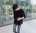 "❗️❗️ [ลดเหลือ 390 บาท จากราคาปกติ 450 บาท] ❗️❗️ เสื้อยืด - Oversized t-shirt ( Black )  Jack a dandy Oversized T-shirt  Designed for everyday wear, this simple t-shirt is a relaxed fit with comfortable oversized proportions.  Chest = 48"" , Length = 28""    #jackadandy #jackadandyshop #tshirt #oversize #oversizedshirt #JACKADANDY  #men #ผู้ชาย #เสื้อยืด #เสื้อยืดคอกลม #เสื้อยืดตัวใหญ่ #เสื้อยืดสีดำ #เสื้อสีดำ เสื้อ oversize"