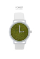 Size  Small : Dial 3.5 cm. with 24 cm. of strap (For women)  Large : Dial 4.2 cm. with 24.5 cm. of strap (For Men)  Detail  Dial : Preserved moss grass  Water resistance : 3 ATM  Body : Matte White  Strap : White leather  Movement : Miyota japan Quartz   Description  White Forest is sophisticated-designed watches with wood dial. This creativity has been made for everyone to feel comfortable, simple and relax in every movement of time and can sense the small piece of nature over your wrist.