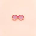 Heart Glasses Pin. (PP08)  เข็มกลัดแบบหมุด ลายแว่นตา ผลิตจากวัสดุ Enamel  •••••••••••••••••••••••••••••••••••••  ✨ Price : 320 baht (ส่งฟรี)  ✨ ••••••••••••••••••••••••••••••••••••   #เข็มกลัด