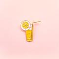 Drink Lemonade Pin. (PP02)  เข็มกลัดแบบหมุด ลายแก้วน้ำ Lemonade ผลิตจากวัสดุ Enamel  •••••••••••••••••••••••••••••••••••••  ✨ Price : 250 baht (ส่งฟรี)  ✨ ••••••••••••••••••••••••••••••••••••  #เข็มกลัด #เข็มกลัดแบบหมุด