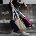 ➖ Shoulder bag ➖ ✔️ Maroon Red 🔴 ✔️Sand 🔶 ✔️Prussian blue 🔵 -  **สายกระเป๋าสามารถปรับความยาวได้**  💲300 Bath & Free register **   #Bag #totebag #Shoulderbag #red #blue #bag #canvas #กระเป๋า #กระเป๋าผ้า #กระเป๋าสะพาย