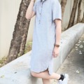 ":: Polo Dress :: • 1 Color • Cotton x Linen • Chest 39"" • Hip 40"" • Front's length 34.5"" • Back's length 36.5"" • 890THB. *** รุ่นนี้ผ้านิ่มนะคะ #katji"