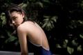 """:: ชุดว่ายน้ำผู้หญิง - Crossback - [navy/white] :: Minimal swimwear that you'll love with best quality and reasonable price. Every pieces are design by the designer. We use high quality textile that are UV protected and every swimwear come with bra pads inside.  ชุดว่ายน้ำมินิมอล (minimal) เรียบหรู ราคาพอดี คุณภาพดีเยี่ยม ออกแบบโดยนักออกแบบ (designer) ฝีมือดี ใช้ผ้าสำหรับชุดว่ายน้ำโดยเฉพาะ กันยูวี มีซับในทุกตัว พร้อมฟองน้ำรับทรงในตัว เราตั้งใจผลิตเย็บอย่างดีทุกชิ้นเพื่อลูกค้าทุกท่าน 😊 ไม่แน่ใจปรึกษาเรื่อง size ก่อนสั่งซื้อได้ที่ Ark to seller นะคะ -------------------------------------------------------------- [Detail] High quality cutting swimwear Thailand. cross back  color : stripe/navy size in: s m l material : 80% nylon 20% lycra -------------------------------------------------------------- **SIZE CHART** Size S: Bust 29.5""""-31.5"""" l Waist 26"""" l Hip 32""""-33.5"""" Size M: Bust 31""""-32.5"""" l Waist 28"""" l Hip 34""""-36.5"""" Size L: Bust 33""""-34.5"""" l Waist 30"""" l Hip 36.5""""-39"""""""