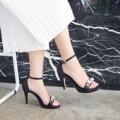 #SPARKLESANDALHEELS are available Color : black  Size: 34-41  **ตอนนี้บางสีบางไซสของหมดนะคะ สอบถามที่ Ask seller ได้เลยนะคะ**  #รองเท้าส้นสูง #รองเท้ารัดข้อ #รองเท้าผู้หญิง