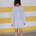 """:: เสื้อเชิ้ต/กระโปรง (ตารางสีขาว) - Girlfriend Set :: ในหนึ่งเซ็ทประกอบด้วย  - เสื้อเชิตอก 42"""" - กระโปรงเอวยืด มีซับใน 26""""- 35""""  Price 990฿  #เสื้อเชิ้ต #กระโปรง"""