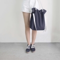 Signature Tote   Available in  Grey/White/Ocean Grey/Navy/Black  Material: canvas bag with leather strap  size 39*45 cm