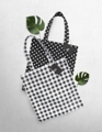 Pattern Tote  Available in  Scott/Polka Dot  Material: canvas bag  size 35*40 cm