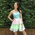 ชุดกระโปรงระบายสีสวยหวาน                                                 #ผู้หญิง#Women #เดรส #dress#cotton #เดรสกระโปรงสั้น#เดรสแขนกุด #เสื้อสีชมพู#สีชมพู  #คอตตอน