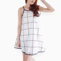 """ผ้าไหมอิตาลี่ เนื้อเบาใส่สบายมากๆ มีกระเป๋าด้านข้าง 2 ข้าง แต่งกุ้นน่ารักมากๆค่ะ  SIZE :  BUST 36""""      LENGTH 31""""   #women #dress #ผู้หญิง #เสื้อผ้าผู้หญิง #เดรส #เดรสสายเดี่ยว"""