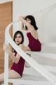 """:: ชุดว่ายน้ำผู้หญิง - Crossback & QUENN - [Maroon] :: Minimal swimwear that you'll love with best quality and reasonable price. Every pieces are design by the designer. We use high quality textile that are UV protected and every swimwear come with bra pads inside.  ชุดว่ายน้ำมินิมอล (minimal) เรียบหรู ราคาพอดี คุณภาพดีเยี่ยม ออกแบบโดยนักออกแบบ (designer) ฝีมือดี ใช้ผ้าสำหรับชุดว่ายน้ำโดยเฉพาะ กันยูวี มีซับในทุกตัว พร้อมฟองน้ำรับทรงในตัว เราตั้งใจผลิตเย็บอย่างดีทุกชิ้นเพื่อลูกค้าทุกท่าน 😊 ไม่แน่ใจปรึกษาเรื่อง size ก่อนสั่งซื้อได้ที่ Ark to seller นะคะ -------------------------------------------------------------- High quality cutting swimwear Thailand. color : Maroon size in: s m l material : 80% nylon 20% lycra -------------------------------------------------------------- **SIZE CHART** Size S: Bust 29.5""""-31.5"""" l Waist 26"""" l Hip 32""""-33.5"""" Size M: Bust 31""""-32.5"""" l Waist 28"""" l Hip 34""""-36.5"""" Size L: Bust 33""""-34.5"""" l Waist 30"""" l Hip 36.5""""-39"""""""