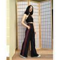 กางเกงขากระบอกวินเทจ+เสื้อครอปผูกหลัง  มีสีดำ แดง นง. เหลือง ชมพู แถบด้านข้างเลือกสีเพิ่มเติมได้  งานตัดตามไซค์และส่วนสูงลูกค้า  #BeMindCloset