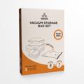 CUSHY ถุงประหยัดพื้นที่สูญญากาศ+กระบอกสูบ รหัสสินค้า : 8403VB001145 (M) รหัสสินค้า : 8403VB002185 (L)  - ถุงสูญญากาศพลาสติก หนา 0.07 มม. แบบมีซิปล็อค - สำหรับเก็บเสื้อผ้า ผ้าเช็ดตัว ผ้าห่ม ผ้านวม หมอน ฯ - ช่วยลดพื้นที่ในการจัดเก็บได้มากถึง 75% - สามารถป้องกันฝุ่น สิ่งปกปรก  เชื้อรา และกลิ่นเหม็นอับต่างๆ - ป้องกันมด และแมลงต่างๆ ไม่ให้กัดเนื้อผ้า - สามารถป้องกันน้ำและความชื้นได้เป็นอย่างดี - ขนย้ายได้สะดวกสบาย เหมาะสำหรับผู้ที่เดินทางบ่อย เพื่อลดพื้นที่ในการจัดเก็บกระเป๋าเดินทาง - ถุงสามารถคงสภาพสูญญากาศได้นาน 6 เดือน และสามารถนำกลับมาใช้ได้หลายครั้ง - มาพร้อมกระบอกสูบลม 1 กระบอก - ขนาดสินค้า 60 x 80 ซม. (M) - ขนาดสินค้า 80 x 100 ซม. (L) - จำนวน 2 ถุง/แพ็ค  วิธีการใช้งาน  - เทคนิคในการใช้กระบอกสูบลม ให้ไล่ลมออกจากถุงให้ได้มากที่สุดด้วยการใช้มือไล่ลมออกก่อนแล้วค่อยปิดปากถุงสูญญากาศให้สนิทแล้วค่อยใช้กระบอกสูบลม ดูดลมออกมาจนหมด  หมายเหตุ : สีของสินค้าที่ปรากฎ อาจมีความแตกต่างกันขึ้นอยู่กับการตั้งค่าของแต่ละหน้าจอ  **รอบระยะเวลาในการสั่งซื้อ-จัดส่ง - ตัดยอดทุกวันพฤหัสบดี เวลา 12.00 น. และจะจัดส่งให้วันอังคารของสัปดาห์ถัดไป ---------------------------------------------------------------- #CUSHY #PRIM #CHERISH #FNOUTLET #fnoutlet #Knife #Wooden #Block #Vacuum #Storage #Bag #ถุงประหยัดพื้นที่ #ถุง #กระเป๋า #สูญญากาศ #ที่จัดเก็บ #กระบอกสูบ #ที่สูบลม