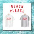 """เสื้อยืดผ้า Cotton 100% สกรีน """"Beach Please""""   มีจำหน่าย 2 สี  - ขาว  - เทา  #เสื้อยืด"""