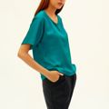 Super trendy blouse with trend BLUE ! 100% Silk ผ้าไหม PREMIUM sewing การเย็บผ้า, Designs Product ! ---------------------------------------------------------------- Best Seller in Tokyo and Kyoto  ---------------------------------------------------------------- Special Price for the clearance , only 2 left