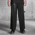 """กางเกงขากระบอกตรงสุดคลาสสิค สำหรับสาวกแนว over-sized กับปลายขากว้าง 22นิ้ว บนผ้าคุณภาพสูงจากประเทศญี่ปุ่น ออกแบบโดยดีไซน์เนอร์ไทย ตัดเย็บด้วยความประณีต  มาด้วยกัน2สีและ2ดีเทลผ้าซึ่งจะมาเปลี่ยนหน้าร้อนคุณให้คูลขึ้น 1. สีดำ(Poly 41%/Cotton 40%/lycla 2%/ceo 17%) ทอขึ้นลาย twill เดินเส้นสวยงาม 2. สีขาวออฟไวท์(Cotton 100%) ทอเส้นคู่ขึ้นลาย canvas *ผ้าทั้ง2ชนิด ผลิตขึ้นที่ประเทศญี่ปุ่น เสื้อผ้าตัดเย็บที่ประเทศไทย --------------------------------- Wide Leg Trousers (กางเกงขายาวทรงขากว้าง) Code : P-002 Colorway : Black,Off-White (มีให้เลือก2สี:ดำ,ขาวออฟไวท์) Size : Free Size/Unisex (ขนาด:ฟรีไซส์/ใส่ได้ทั้งชายหญิง) --------------------------------- Free Size/Unisex (ฟรีไซส์/ใส่ได้ทั้งชายหญิง) Waist(เอว) = 26""""-34"""" (Elastic Waist : เอวด้านหลังเป็นยางยืดคุณภาพสูง) Total Length(ยาวทั้งตัว) = 41"""" Leg End Open(ปลายขากว้าง) = 22"""" --------------------------------- Models' Measurements(สัดส่วนนายแบบ-นางแบบ) Men(ผู้ชาย):  Height 182cm/Weight 70kg/ Bust:37""""/Waist:30""""/Hips35"""" Women(ผู้หญิง): Height 173cm/Weight 54kg Bust32""""/HighWaist 26""""/LowWaist 29""""/Hips34""""  ------------------------------------------------------ #men #women #pants #unisex #ผู้ชาย #ผู้หญิง #กางเกงผู้ชาย #กางเกงผู้หญิง #กางเกงขายาว #กางเกงขายาวสีดำ #กางเกงขายาวสีขาว #กางเกงขากระบอก"""