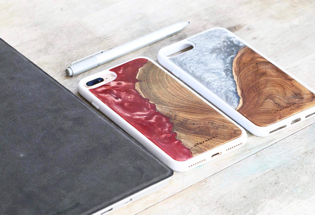 nympheart,case,wood,teakwood,unique,handcraft,iphonecase