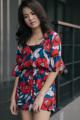 จั๊มสูทกางเกงขาสั้น มีดีเทลบานเล็กๆที่ปลายแขน เอวจับสม็อกยางยืดช่วยให้เข้าเอว น่ารักสดใสรับซัมเมอร์ก้า . color: แดงน้ำเงิน size: freesize price: 490.-  #women #ผู้หญิง #เสื้อผ้าผู้หญิง #จั๊มสูท