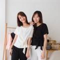 "RIBBON TOP  Detail: ผ้าhanako ตัดเย็บอย่างดี ใส่ง่าย  มีเชือกผูกเอว งานเสื้อคอกรมคะ เชือกค่อนข้างยาวผูกง่าย ---------- Size: อก 32-38"" (นิ้ว) ยาว 20"" (นิ้ว) --------------- Jolie Cute Shop ภาพทุกชิ้น ถ่ายเองมาจากงานจริง #Joliecute #women #ผู้หญิง #เสื้อผ้าผู้หญิง #เสื้อผู้หญิง #เสื้อแขนสั้น #เสื้อคอกลม"