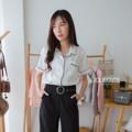 "RIKO Shirt  Size: อก 38""  ยาว 23""  Detail:  ผ้าลินินมีสีขาว กุนสีดำ งานเสื้อเชิ้ตผ้าดีมาก งายตัดเย็บดี ใส่หน้าร้อนได้สบายๆเลย  ราคา: 290.-THB  Line: @joliecuteshop #Joliecute"