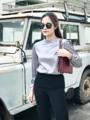 Vintage blouse in silver  Color : Black,Silver,Gray,Turtle green Size : Xs / S / M / L Please line @cecilia #Cecilia #Cecilia
