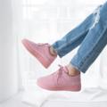 ร้องเท้าผ้าใบผูกเชือก แพทฟอร์มสูง 1.5 นิ้ว ช่วยเพิ่มความมั่นใจขณะสวมใส่ ใส่ได้ตลอด ไม่มีเอ๊าท์แน่นอนค่ะ  ความยาวเท้าที่เหมาะสมกับขนาดรองเท้าค่ะ --------------------------------------------- เท้ายาว 24 ซม. ใส่เบอร์ 38 เท้ายาว 24.5 ซม. ใส่เบอร์ 39