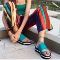 """สีเขียว  ไซส์ 35-40 สูง 1.5"""" สายผูกข้อเท้าสามารถถอดออกได้ #shoes #fashion #TropicalTraveller #TropicalTraveller"""