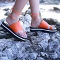 """สีส้ม ไซส์ 35-40 สูง 1.5"""" สายผูกข้อเท้าสามารถถอดออกได้ ................................................... 'The Tropical Parrots Collection' By Tropical traveller 🌺🌿 First step Platform Sandals Color : Orange Size : 35-40 Height : 1.5""""  #women #ผู้หญิง #รองเท้า #รองเท้าผู้หญิง #รองเท้าเชือกผูก #รองเท้าแตะ #shoes #fashion #TropicalTraveller #TropicalTraveller #TropicalTraveller"""