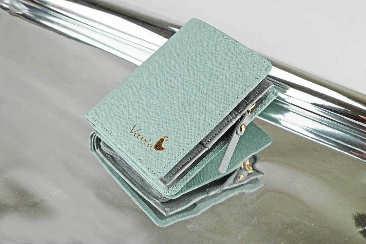vavia,vaviadesign,pocketbookwallet,wallet,blue,milkyblue,leather,cowleather,purse,bag,saffiano,nappa,กระเป๋าสตางค์,กระเป๋า,สีฟ้า,สีเงิน,ฟ้าหม่น,ฟ้าอ่อน,เงิน,หนังแท้,กระเป๋าสตางค์ใบสั้น,กระเป๋าสตางค์ขนาดเล็ก