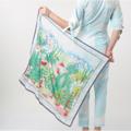 [ ลดราคาเหลือ 743 บาทจากราคาปกติ 990 บาท ]  - ผลิตจากผ้าโพลีเอสเตอร์ - เนื้อนุ่มน่าสัมผัส  - ให้ความอบอุ่นปานกลาง - ขนาด 100 x 100 เซนติเมตร  #เสื้อผ้าผู้หญิง #ผ้าพันคอ #ผ้าคลุมไหล่ #คลุมไหล่