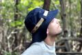 Hiking Hat หมวก ผ้าฝ้ายระบายอากาศได้ดี ป้องกันแสงแดด  หมวกน้ำหนักเบา  ช่วยป้องกันรังสียูวี มีสายรูดปรับระดับได้ Color= Navy Blue สี กรม สายคาดสีครีม