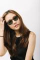 GQSun-003 Price: THB 1,990 UV 400 Sunglasses Lens  Frame Size: 50□23-143○47 Frame Width: M (136 MM) Weight: 9.9 g  ผิววัสดุ : Brown ทรง : Round กรอบแว่น : Full Rim วัสดุ : Plastic   #GLAZZIQ#Eyewear #Sunglasses #แว่นตา #แว่น #แว่นกันแดด