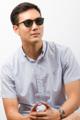 GQSun-002 Price: THB 1,990 UV 400 Sunglasses Lens  Frame Size: 50□23-143○47 Frame Width: M (136 MM) Weight: 9.9 g  ผิววัสดุ : Black ทรง : Round กรอบแว่น : Full Rim วัสดุ : Plastic   #GLAZZIQ#Eyewear #Sunglasses #แว่นตา #แว่น #แว่นกันแดด