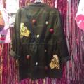 Tiger Coat with embroidery :: เสื้อคลุม รูดตรงเอว หรือจะใส่ปล่อยๆก็ได้ #coat  #wmwwmwwmw