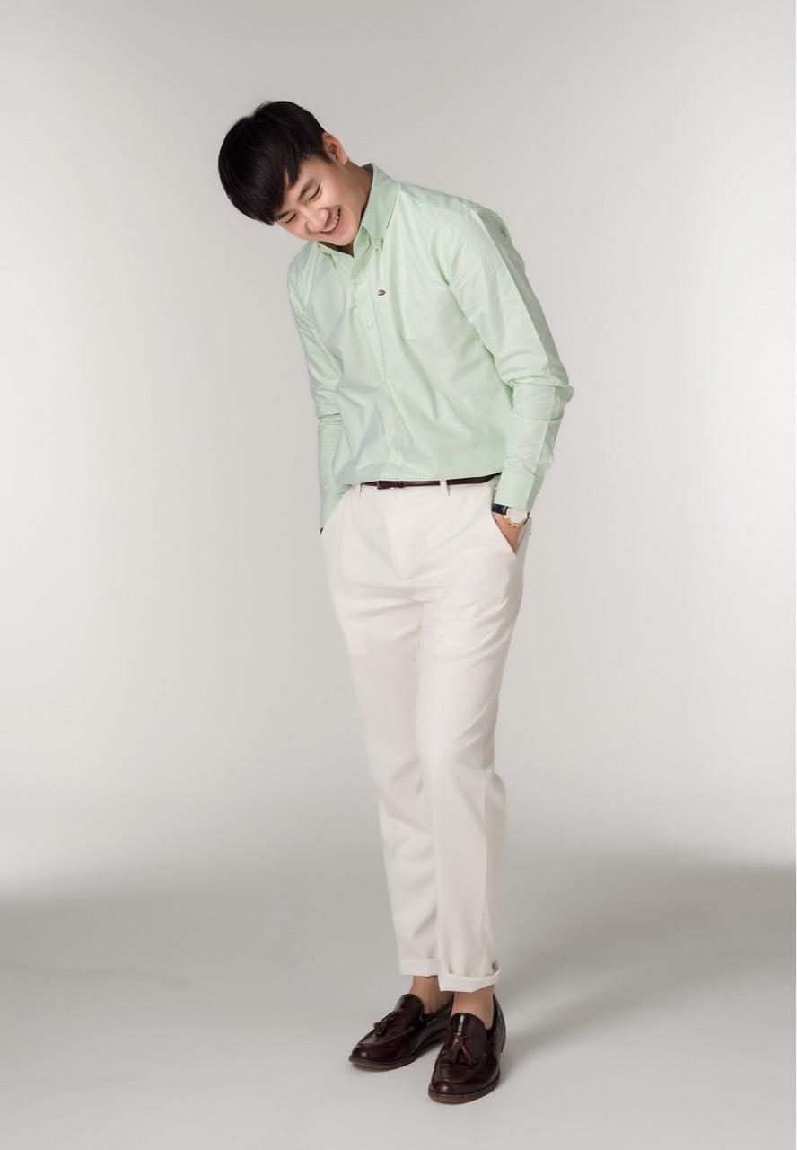 SLOPEMenswear,men,ผู้ชาย,เสื้อเชิ้ต,เสื้อเชิ้ตแขนยาว,เสื้อเชิ้ตสีขาว,เสื้อเชิ้ตคอจีน