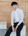 White - tuxedo square elbow shirt  Material : cotton fabric  Color : white Price : 1,190 THB