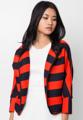 """ขนาด : รอบอก x ความยาว (นิ้ว) - 40"""" x 20""""  เพิ่มดีกรีความฮอตให้กับเสื้อผ้าชุดทำงานของคุณด้วยเสื้อคลุม Stripy Luxe จากแบรนด์ Mirror Dress ที่ตัดเย็บจากผ้าโพลีผสมอัดลายในทรงสวมใส่สบายและเสริมความโดดเด่นด้วยดีไซน์ลายทางในโทนสีร้อน  - ตัดเย็บด้วยผ้าโพลีผสม - คอกลม - แขนยาว - ดีไซน์แบบเปิดด้านหน้า - สวมใส่สบาย - ไม่มีซับใน"""