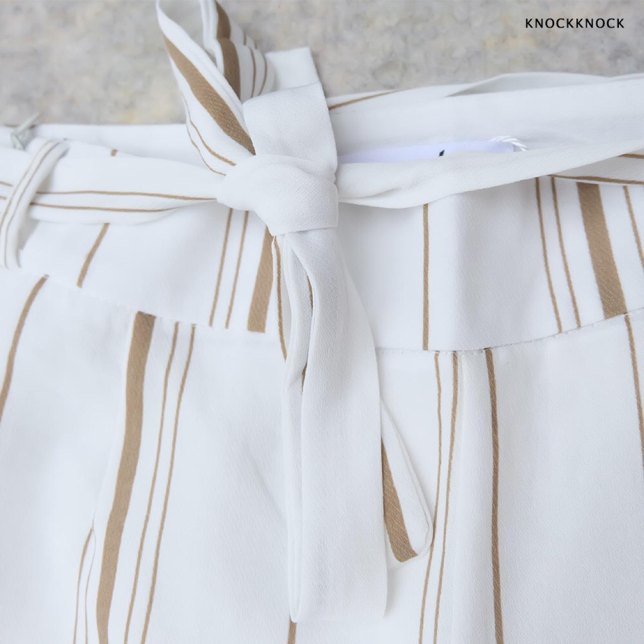 กางเกงลายทาง,กางเกงเอวสูง,กางเกงทำงาน,KnockKnock