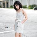 """""""Emilia""""Shorts plaid jumpsuit Color : beige Size : Freesize (waist 28""""/hip 40"""" / chest 34""""/ lenght 31-34.5"""" ปรับความยาวสายได้ค่ะ) Price : 690bath"""
