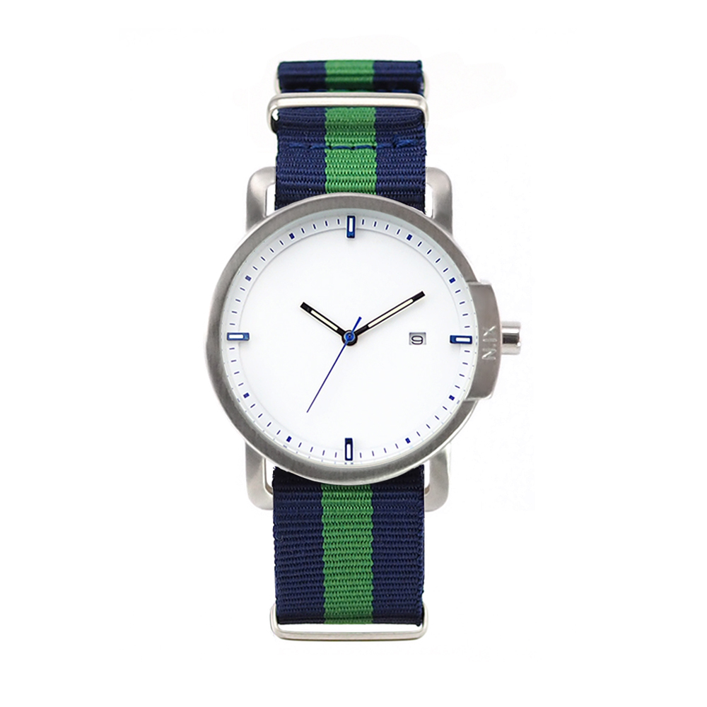 ฟรีจัดส่ง,NIXwatch,NIXstudio,OceanProject,Minimalwatches,stainless,nylon,street,mesh,leather,giftset,Unisex,gift,Metallic,present,black,navy,blue,green,silver
