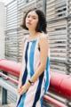 """🌵New in 🌵  ชื่อสินค้า : Stripe minidress  มินิเดรส สายเดี่ยว ลายทาง อัดกาวทั้งตัว สามารถใส่แบบไม่ต้องใส่ซับในได้นะคะ เจาะกระเป๋าข้าง แถมฟรีผ้าโพกผม สายที่ไหล่เป็นแบบผูกสามารถปรับระดับเองได้นะคะ ใส่ไปเที่ยวเก๋ๆ ชิคๆ ใส่เดี่ยวๆก็สวย หรือจะนัดกันใส่เป็นแก๊งก็สดใสไปอีกแบบ  รายละเอียดสินค้า 🌵 รอบอก 36"""" 🌵 สะโพก 38"""" 🌵 ความยาว 33"""" 🌵 นางแบบสูง 160 ซม. 💕 มินิเดรส 450 freeems  #whitebalancebkk #dress #เดรส #เดรสสั้น #มินิเดรส #เดรสสายเดี่ยว #สายเดี่ยว #เสื้อผ้าผู้หญิง"""