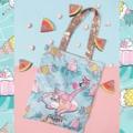 """ชื่อสินค้า : Flamingo on the beach totebag Front digital printing on micro fabric Back and strap rose pick metallic pu กระเป๋าผ้า ลายฟามิงโก้ กระเป๋าสะพาย น่ารักๆสำหรับคุณผู้หญิง   รายละเอียดสินค้า + ขนาด : 14""""x17""""  #PRANKYPLAY #กระเป๋า #กระเป๋าผ้า #กระเป๋าสะพาย #กระเป๋าถือ #กระเป๋าผู้หญิง"""