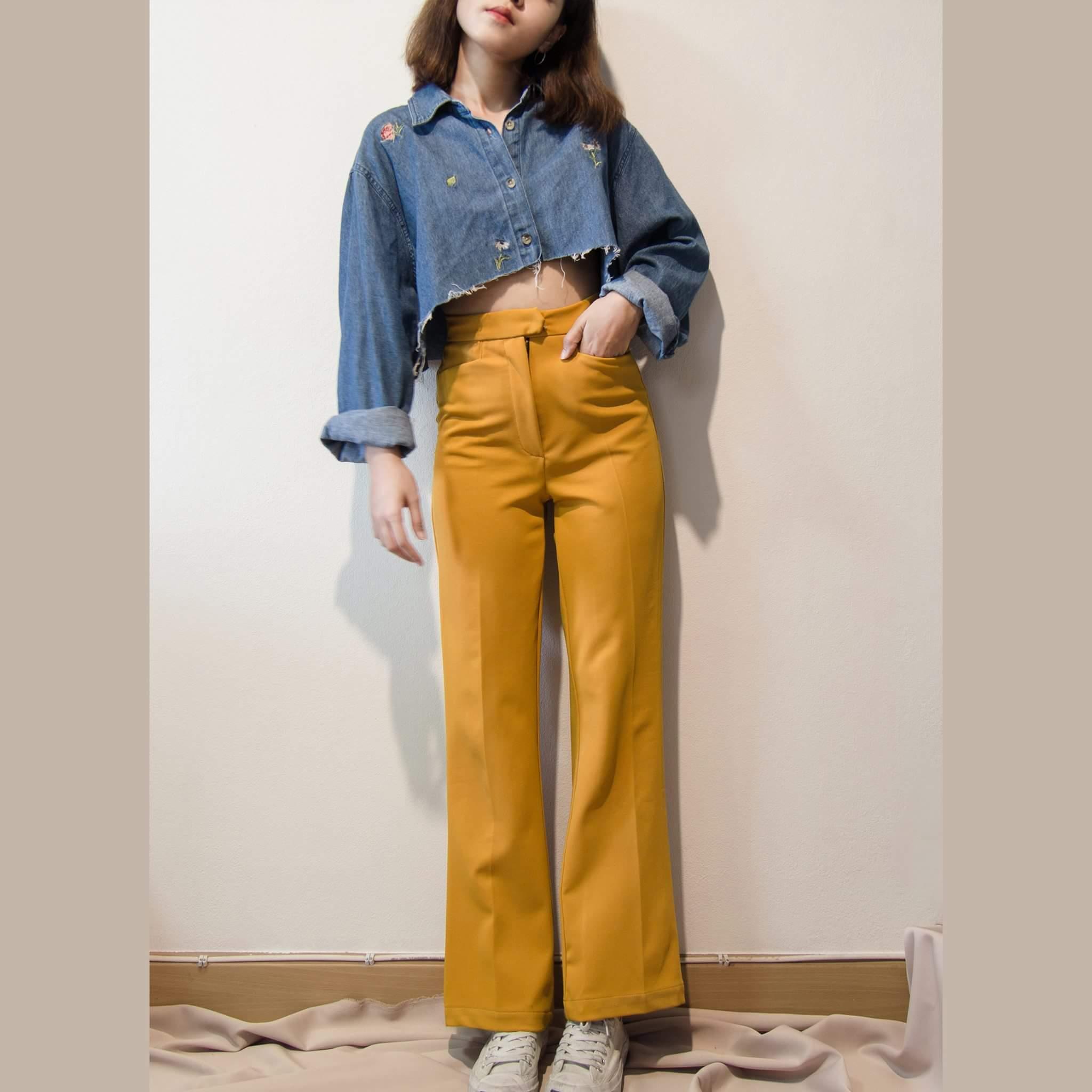 กางเกง,กางเกงขายาว,กางเกงเอวสูง,กางเกงผู้หญิง,กางเกงขายาวผู้หญิง